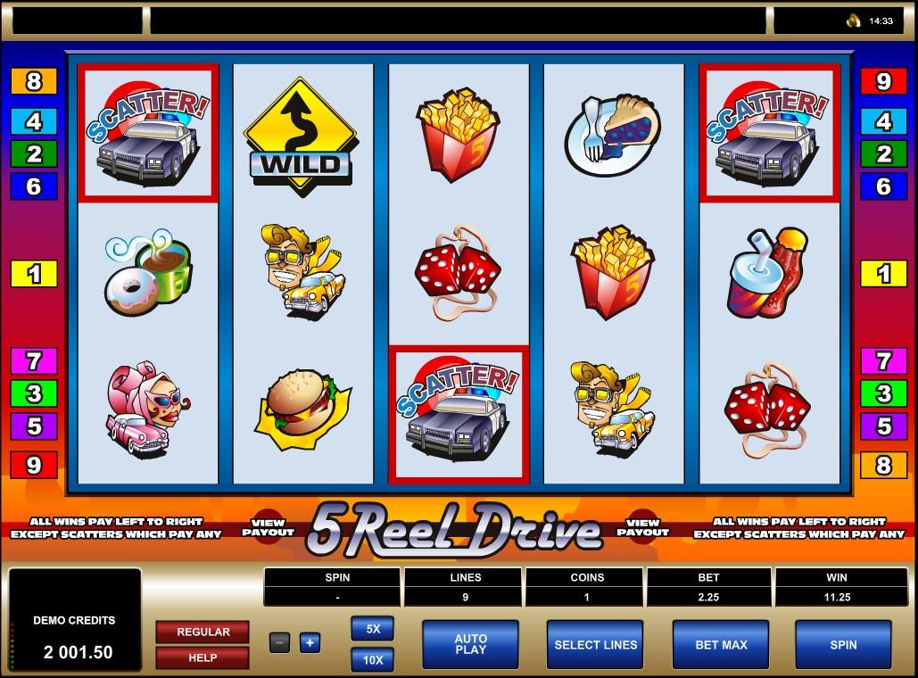 5 Reel Drive Slot Machine