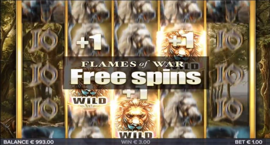 Flames of War Free Spins